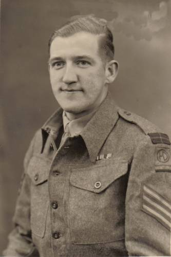 2934077 Sgt. George Sands MM 1945
